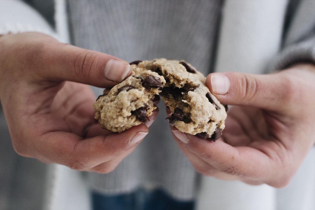 Biscuits aux amandes et aux brisures de chocolat