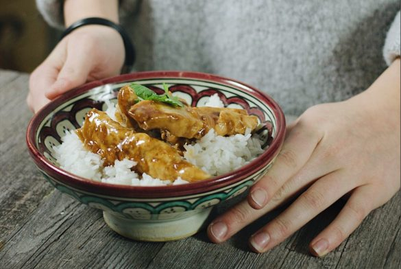 Poulet épicé à l'asiatique