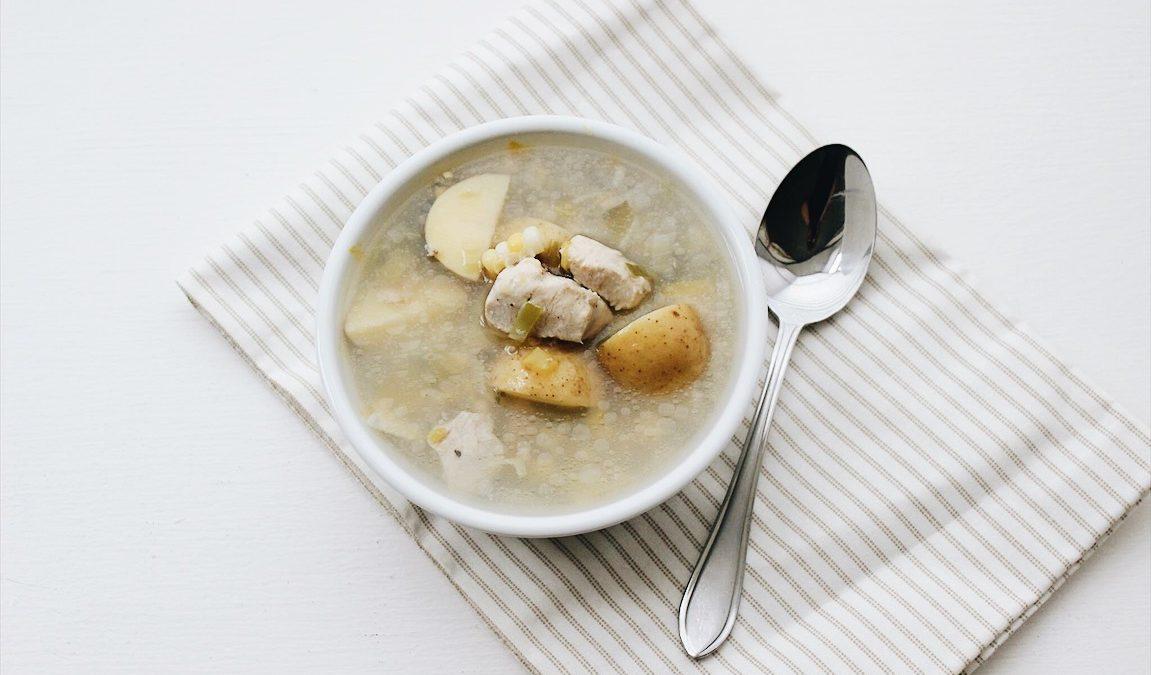 Soupe au maïs et au poulet