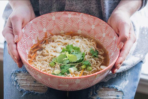 Soupe ramen à l'asiatique