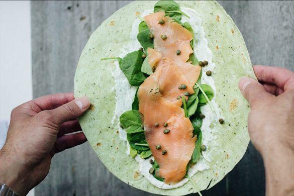 Wrap au saumon fumé et au fromage boursin