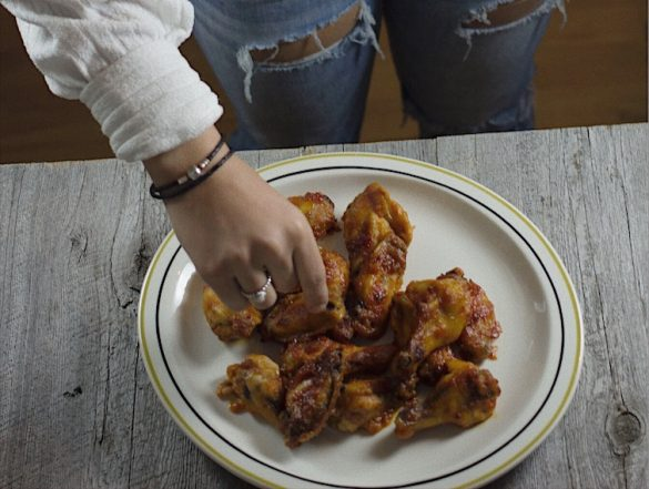 Ailes de poulet sans friture